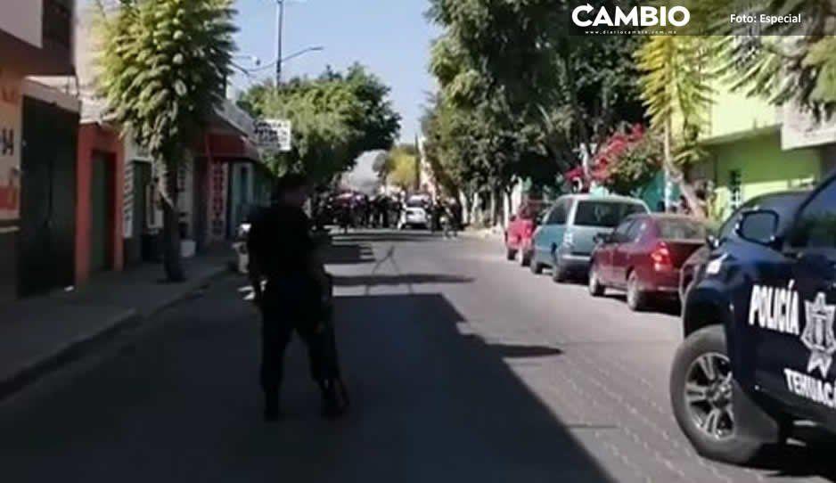 Alarma balacera entre policías y ladrones en calles de Tehuacán