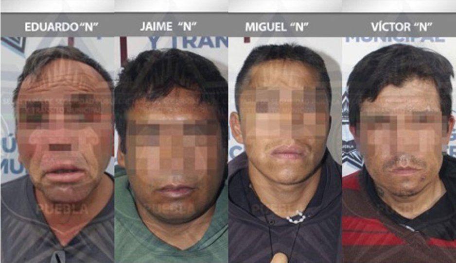 Municipales detienen a cinco presuntos asaltantes en calles de Puebla