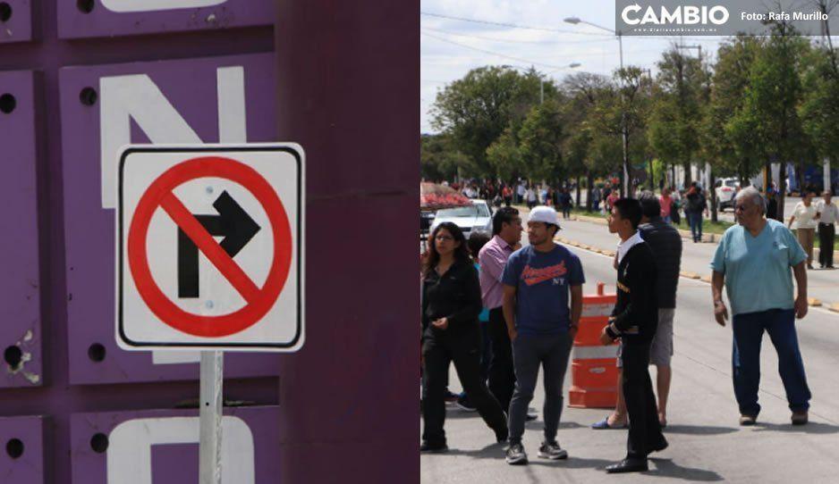 Tras bloqueo, Ayuntamiento retira señalética de prohibido dar vuelta colocada en la 11 Sur y 95 Poniente