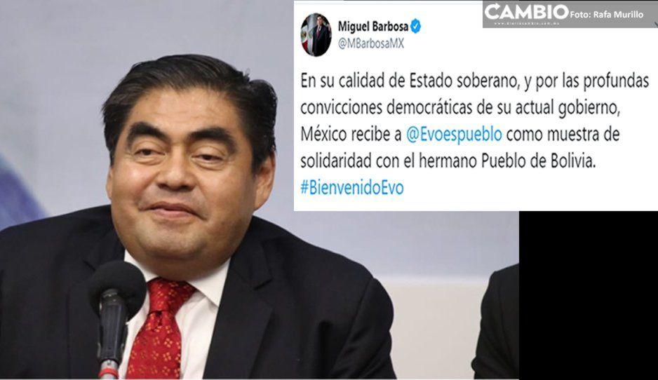 Da Barbosa bienvenida a Evo Morales a México