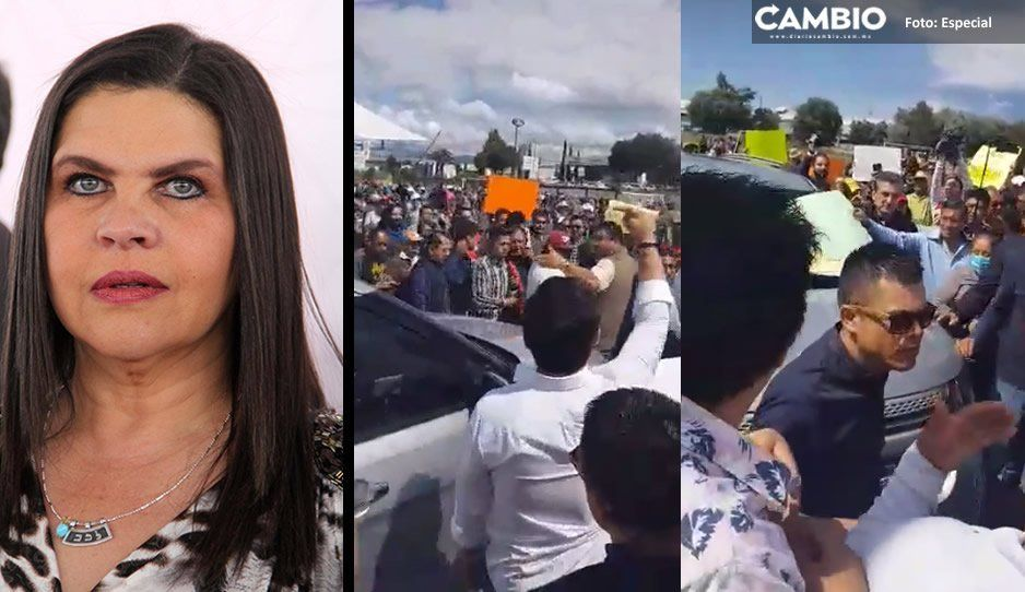 VIDEO: Retienen camioneta de alcaldesa de San Martín saliendo del mitin de Barbosa y le gritan ¡fuera Norma, fuera Norma!