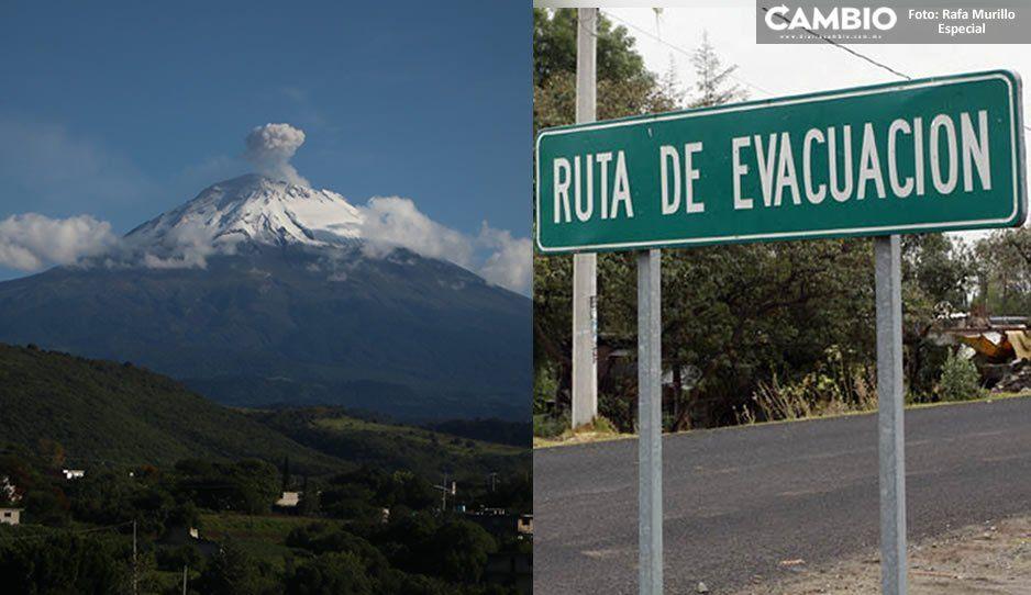 Para finales de este año quedarán concluidas las rutas de evacuación en la zona del Popocatépetl: Barbosa