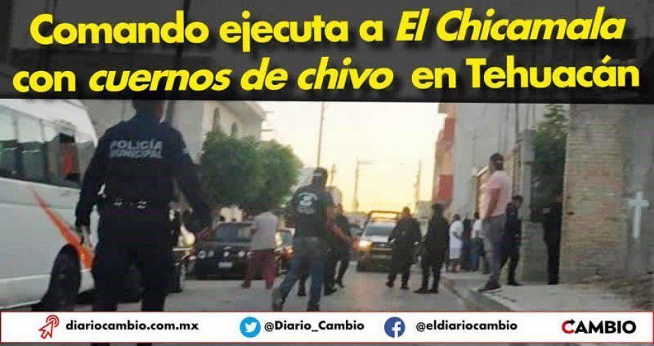 Comando ejecuta a El Chicamala con cuernos de chivo en Tehuacán