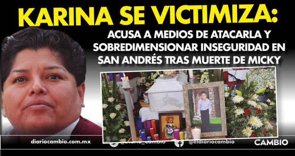 Karina se victimiza: acusa a medios de atacarla y sobredimensionar inseguridad en San Andrés tras muerte de Micky (VIDEO)