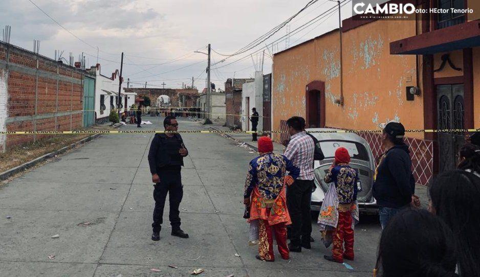 Huehue termina el carnaval asesinado a balazos en Huejotzingo