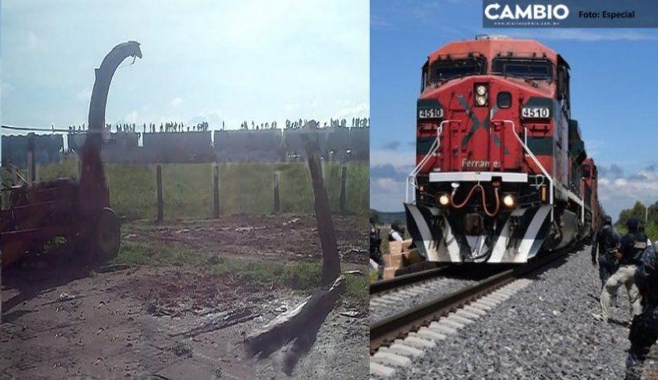 Con balacera saquean tren en Soltepec