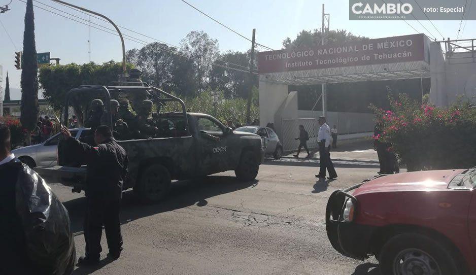 #Alerta Desalojan a 5 mil alumnos del Tecnológico de Tehuacán por amenaza de bomba