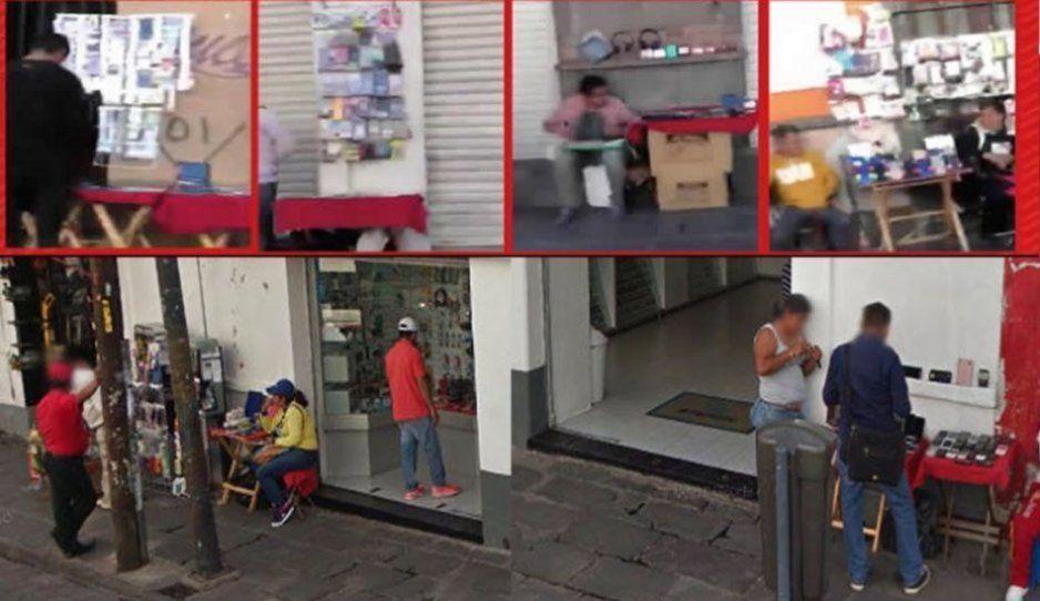 Ahora ambulantes usan halcones para seguir vendiendo celulares robados en el Centro Histórico