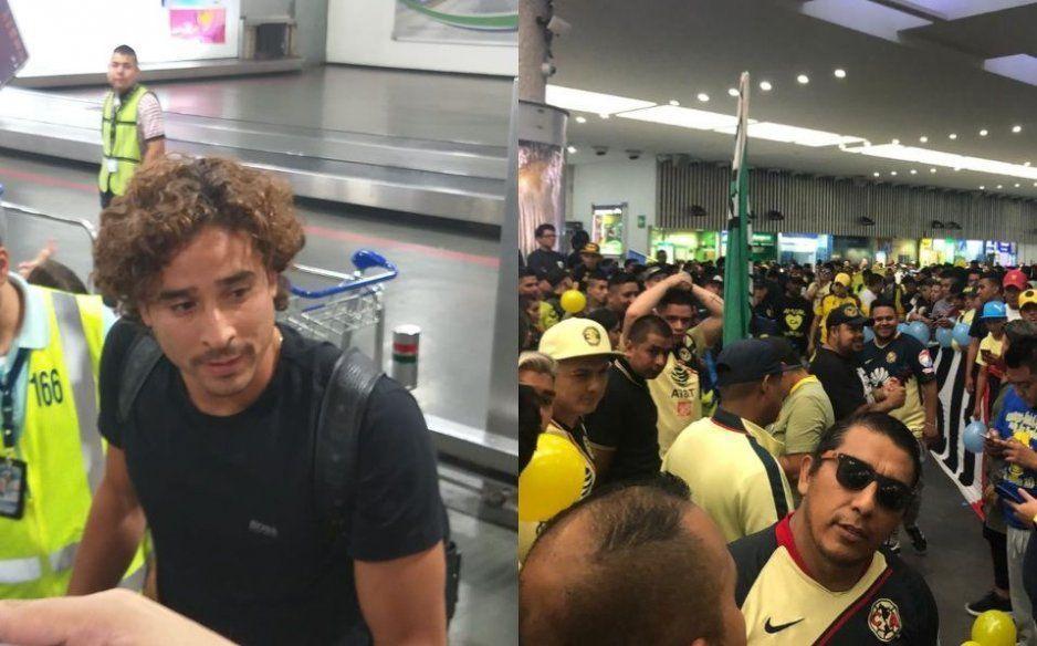 ¡Como rockstar! cientos de americanistas recibieron a Memo Ochoa en el aeropuerto (VIDEO)