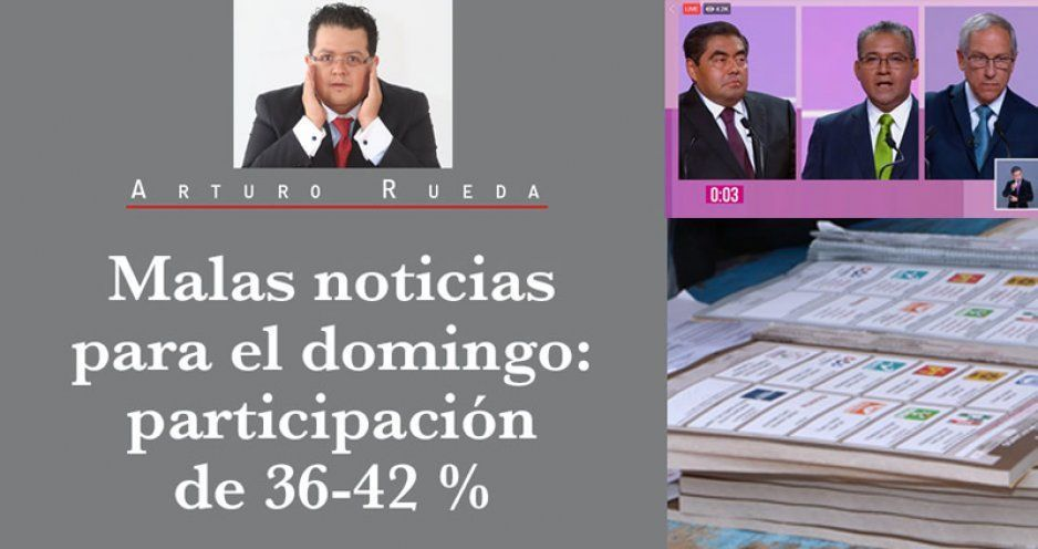 Malas noticias para el domingo: participación de 36-42 %