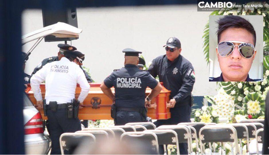 Realizan homenaje a Francisco Daniel, policía abatido en San José Los Cerritos (FOTOS)