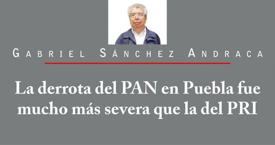 La derrota del PAN en Puebla fue mucho más severa que la del PRI