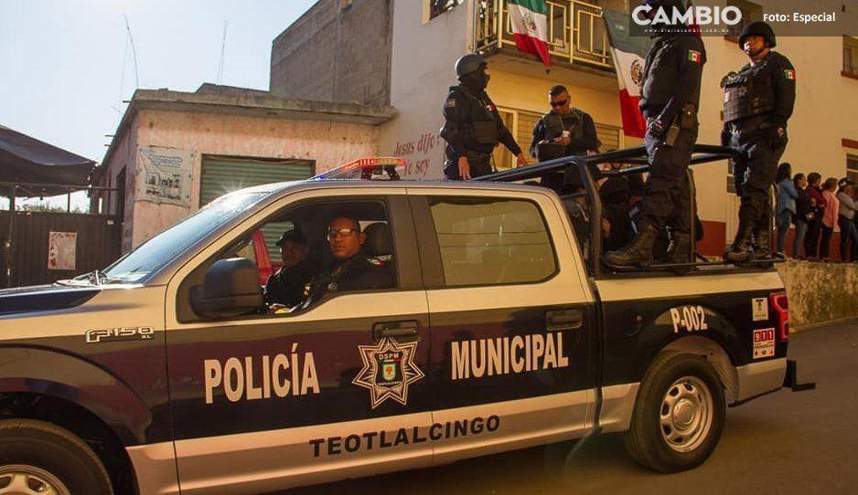 Policías municipales de Teotlalcingo  suman cinco meses sin armamento