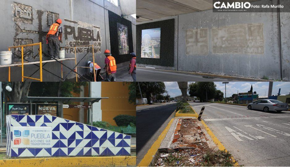 No para la destrucción contra obras del morenovallismo: ahora fue en el Hermanos Serdán y Bulevar Norte (FOTOS y VIDEO)