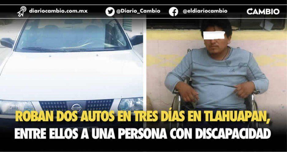 Roban dos autos en tres días en Tlahuapan, entre ellos a una persona con discapacidad