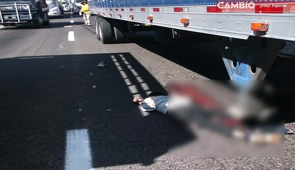 Muere atropellado tras intentar cruzar la Puebla-Orizaba