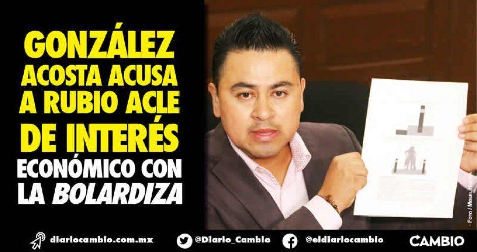 Rubio Acle compró bolardos a empresa vinculada a su esposo e hizo negocio, acusa regidor