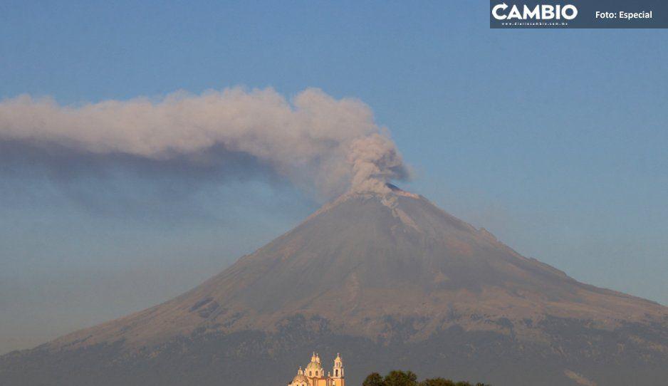 Protección Civil, Cenapred y UNAM sobrevuelan cráter del Popocatépetl