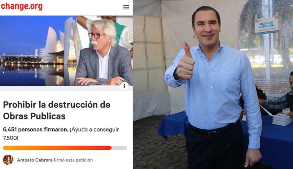 Más de 6 mil poblanos firman para que no tiren obras de Moreno Valle