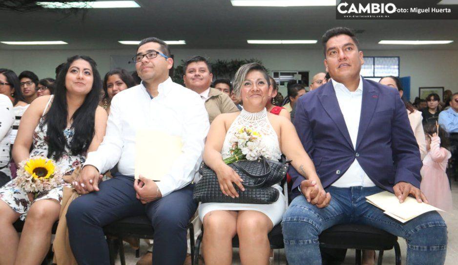 Se casan 165 matrimonios gratis en Puebla