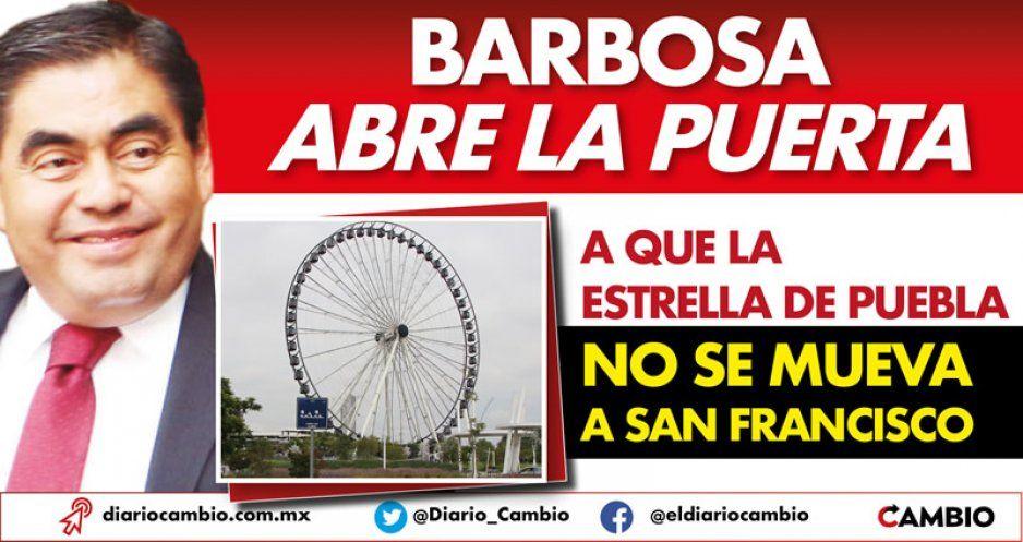 Barbosa abre la puerta a que la Estrella de Puebla no se mueva a San Francisco (VIDEO)