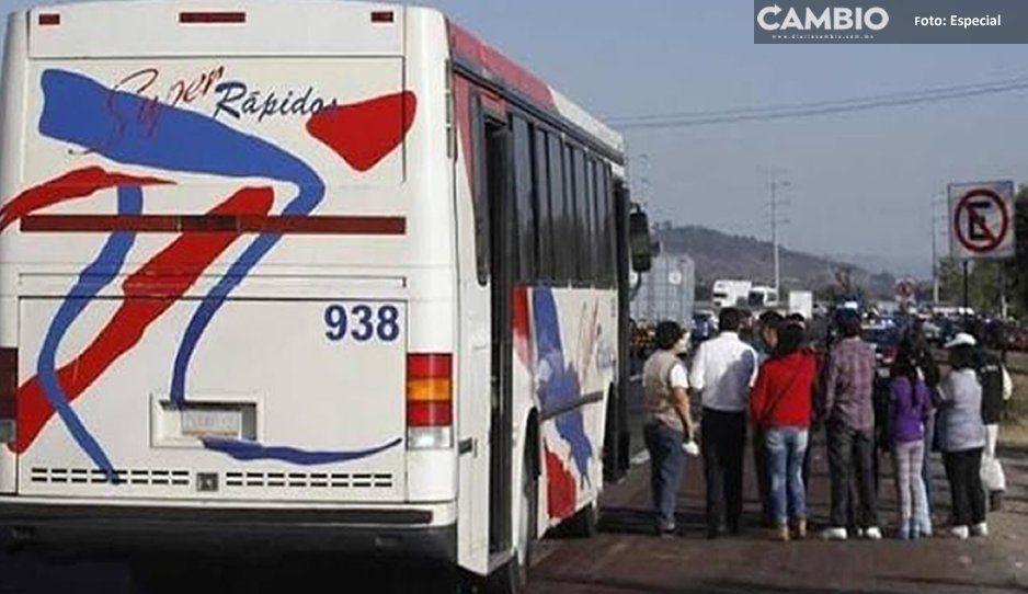 Asaltan autobús de los Súper Rápidos con armas de fuego