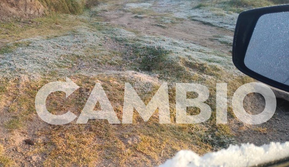 Cae helada en región de Texmelucan, la temperatura baja a cero grados centígrados