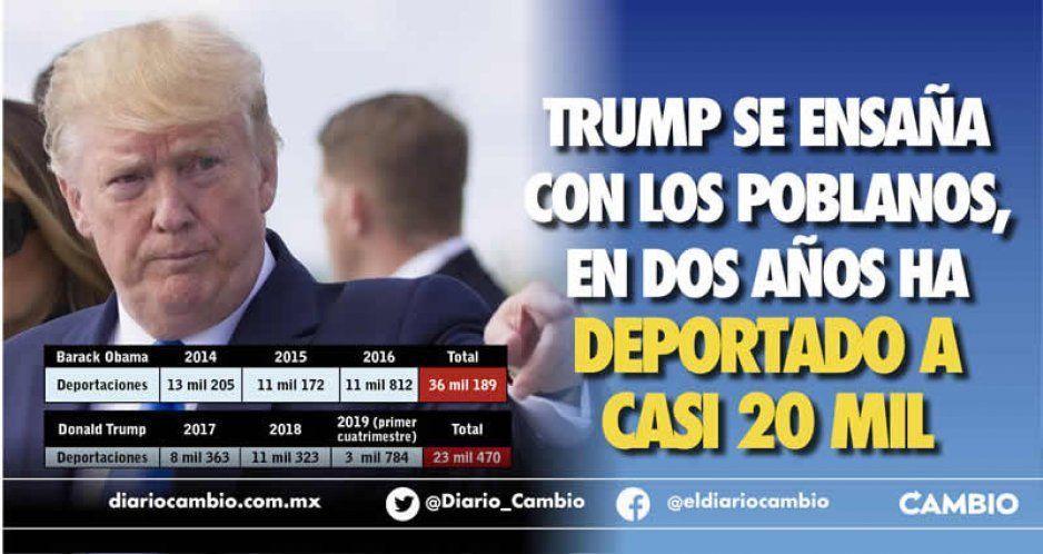 Trump se ensaña con los poblanos, en dos años ha deportado a casi 20 mil