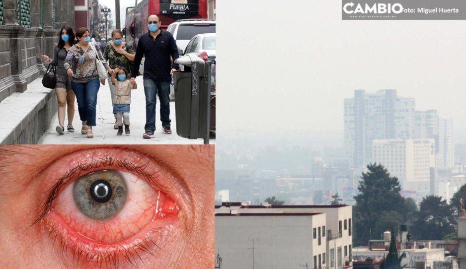 ¡Puebla infectada! Aumentan consultas por enfermedades respiratorias y conjuntivitis ante contingencia ambiental