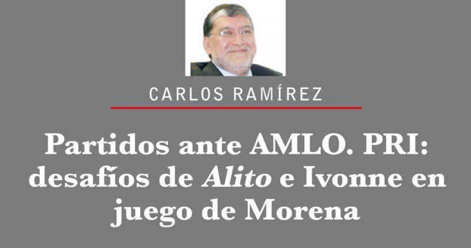 Partidos ante AMLO. PRI: desafíos de Alito e Ivonne en juego de Morena