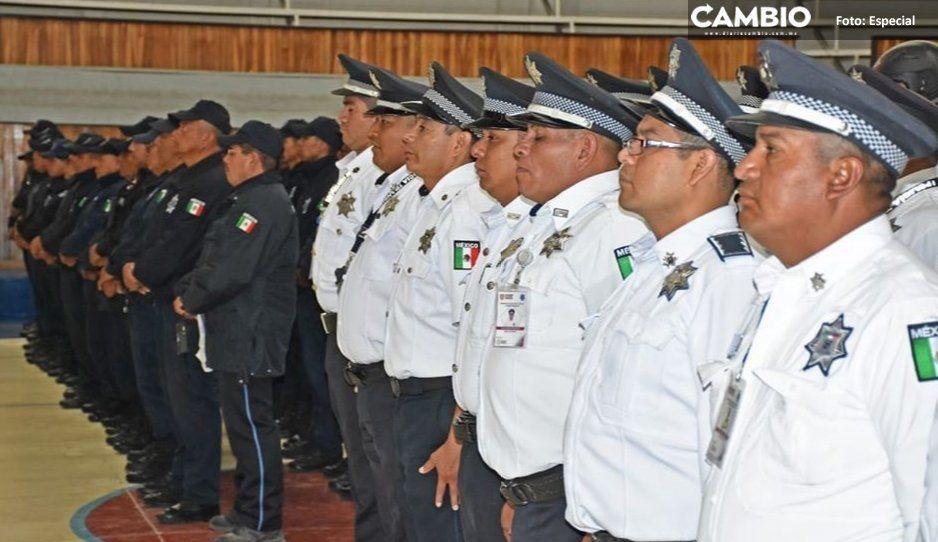 SSP inspecciona armas y permisos de  policías de San Martín Texmelucan