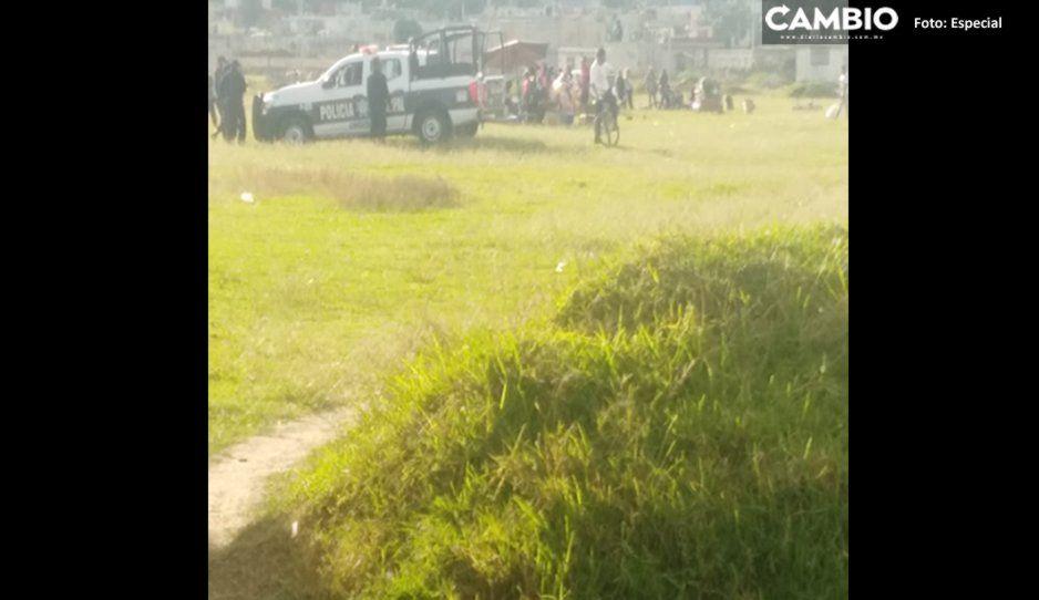 Partido de fútbol se tiñe de sangre en Amozoc: aficionados se pelean y uno termina baleado