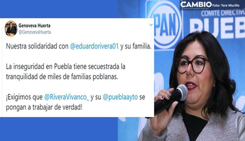 Tras violento asalto a esposa de Lalo Rivera,PAN exige a Claudia frenar la inseguridad
