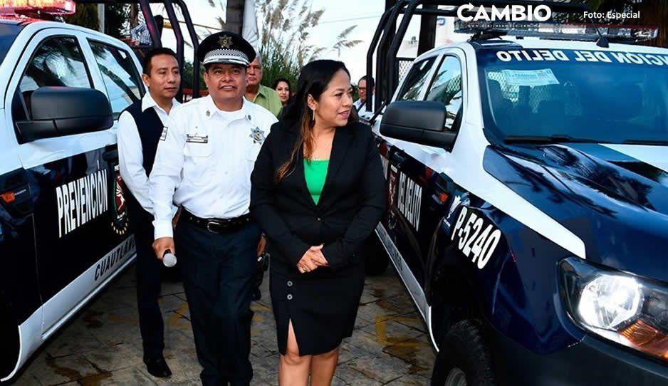 Alcaldesa Lupita Daniel entrega patrullas para Seguridad Pública de Cuautlancingo