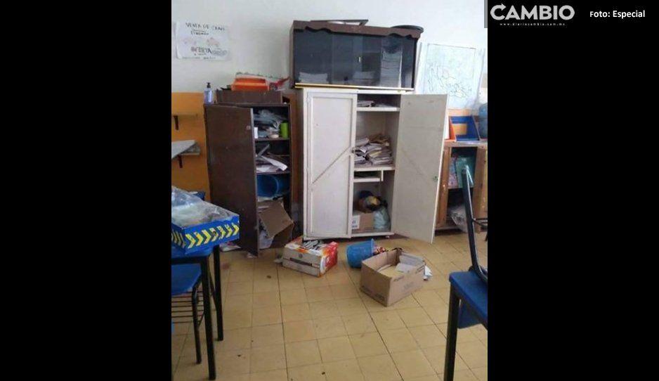 Amantes de lo ajeno roban computadoras en primaria José Clotilde Torres Ramos en Hueyotlipan