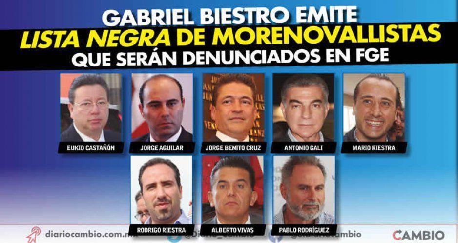 Gabriel Biestro emite lista negra de morenovallistas que serán denunciados en FGE (VIDEO)