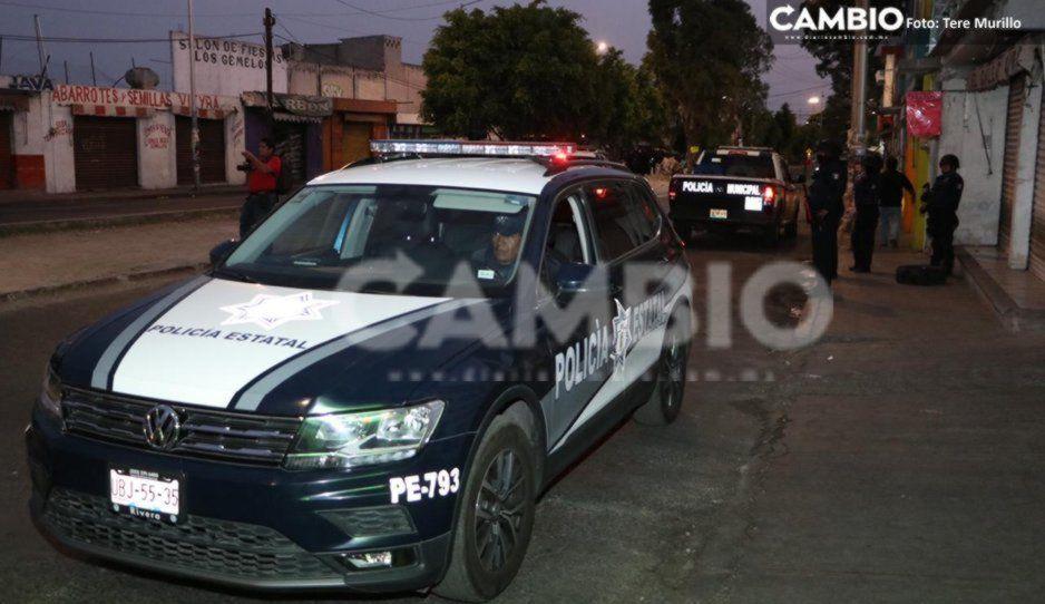 Policía de Amozoc rescata a mujer que había sido privada de su libertad por su propia pareja