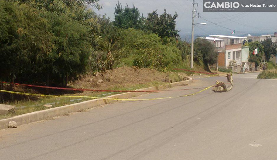 ¡Viven con el Jesús en la boca! Cuarenta familias están en riesgo de deslave en Chiautzingo
