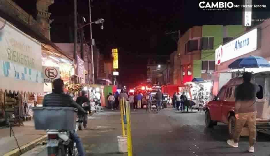 Balacera en pleno centro de San Martín Texmelucan deja a peatón herido