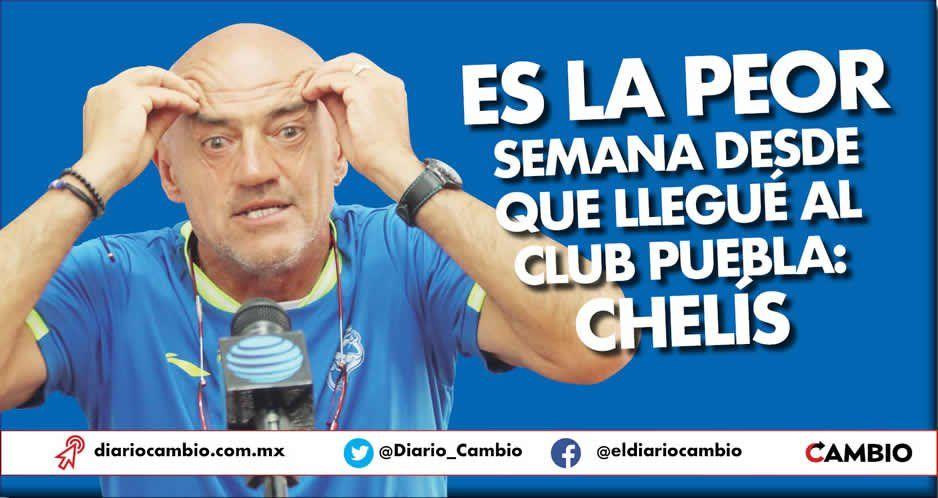 Es la peor semana desde que llegué al Club Puebla: Chelís