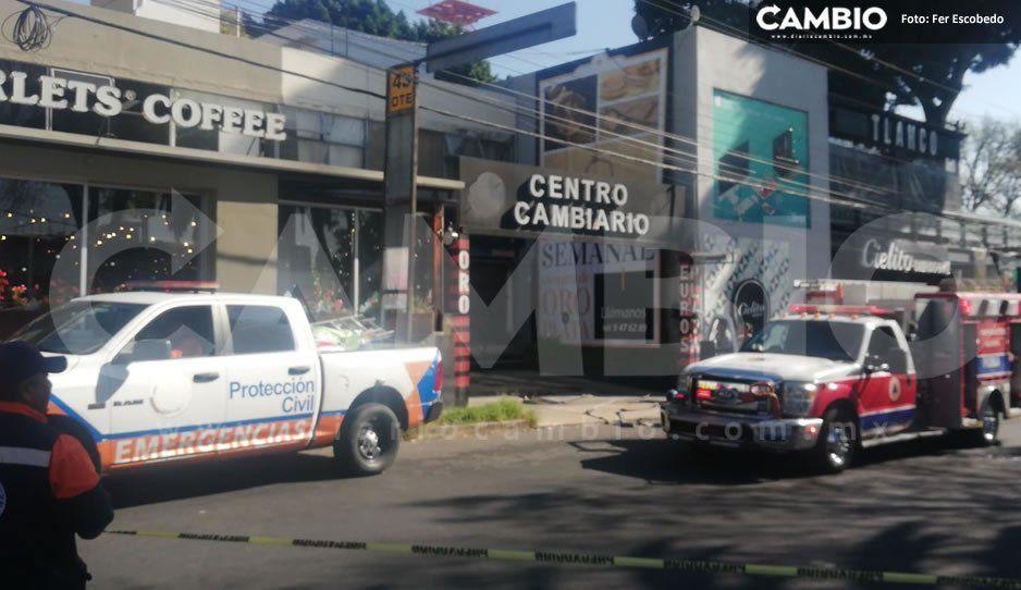 Ratas abren boquete para robar 500 mil pesos de centro cambiario de Huexotitla