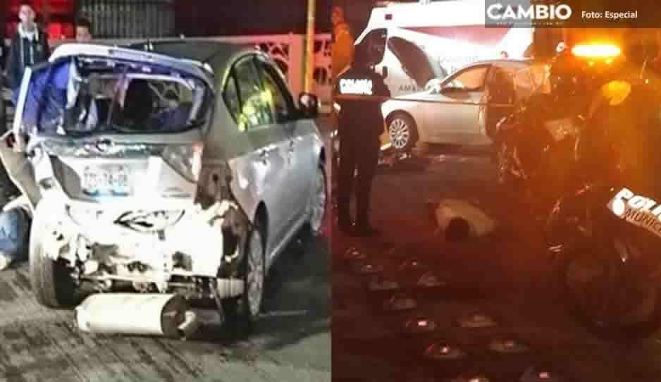 Conductor ebrio se impacta contra ambulancia en la 31 Poniente; hay cinco lesionados