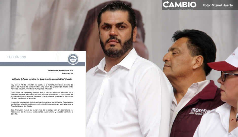 Confirma Fiscalía detención de Patjane; lo acusa de uso ilícito de facultades y atribuciones