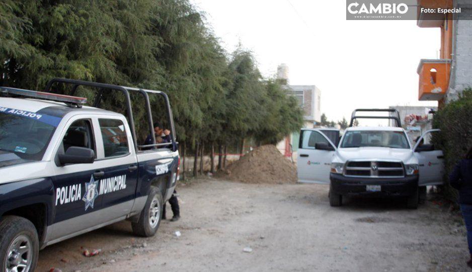 Huachigaseros de Texmelucan reciclan  huachitúnel de diésel para ordeñar gas LP
