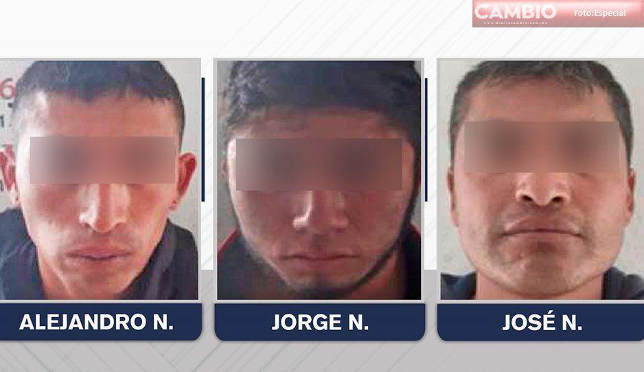 Vinculan a proceso a tres presuntos ladrones de mercancía de Lafragua