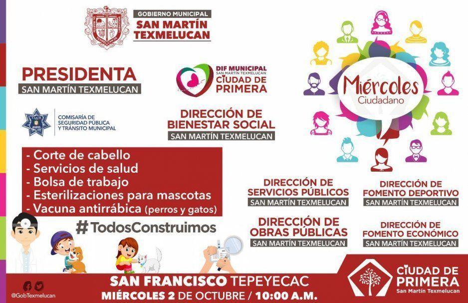 Alcaldesa Norma Layón invita a Miércoles Ciudadano en San Francisco Tepeyac, Texmelucan