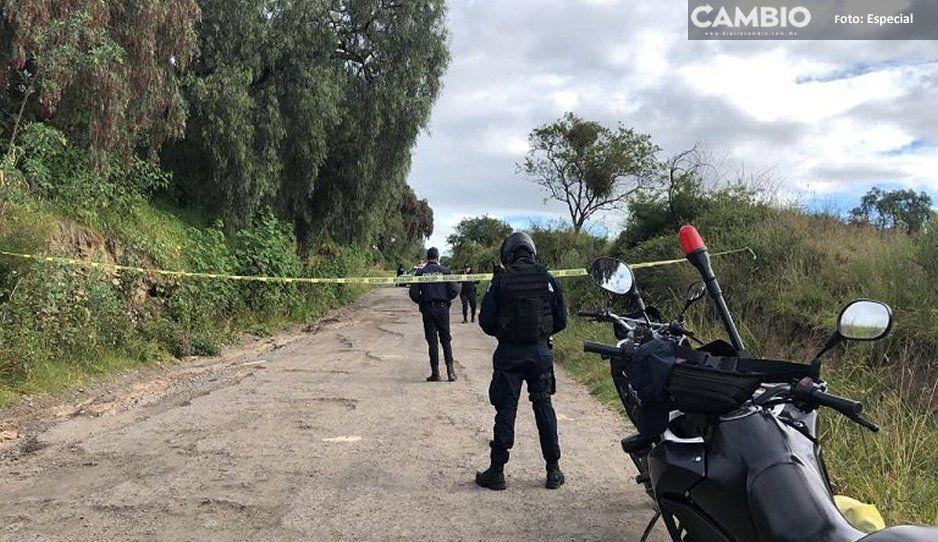 Encuentran cuerpo en el camino de Alpozonga Tlaxcala a San Martín