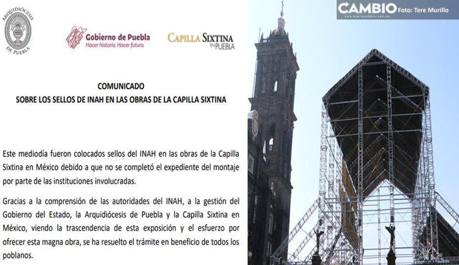 INAH retira clausura de la Capilla Sixtina