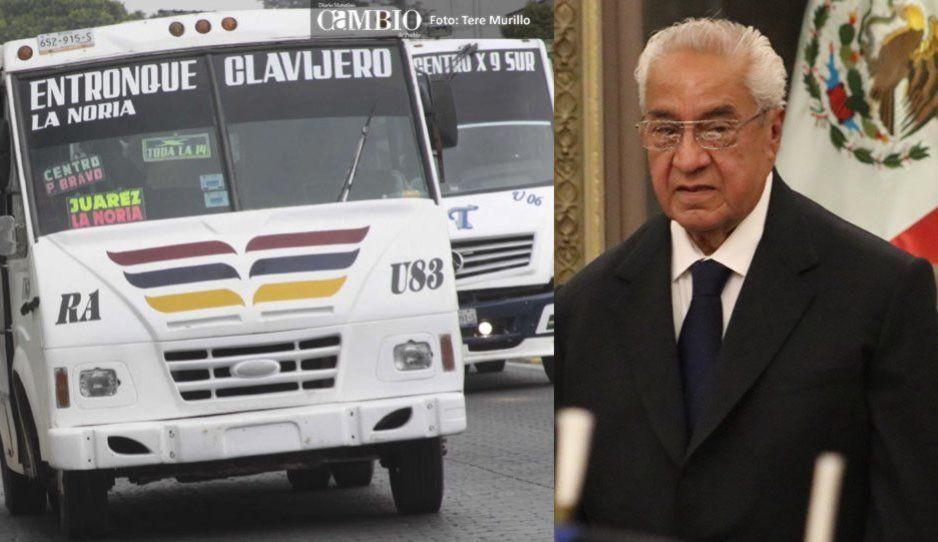 Por el momento no habrá incremento al costo del transporte público: Pacheco Pulido