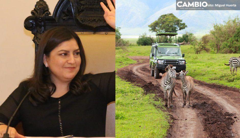 Claudia Rivera ahora se va de safari a Kenia (VIDEO)